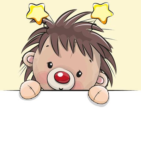 Cute Drawing of a hedgehoge  イラスト・ベクター素材