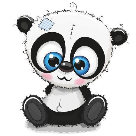 Panda de bande dessinée mignonne isolé Banque d'images - 87421289
