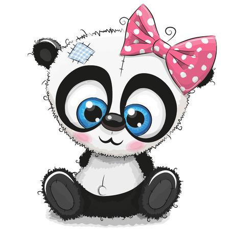 Chica linda panda de dibujos animados Foto de archivo - 87421290