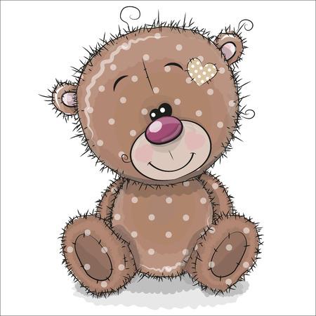 Ours en peluche mignon dessin animé isolé sur fond blanc Banque d'images - 94398576