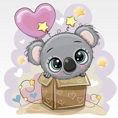 Birthday card with a Cute Koala and balloon