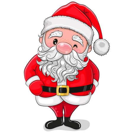 Cute Cartoon Santa isolated on a white background