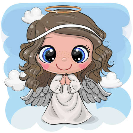 Cute Cartoon Christmas angel