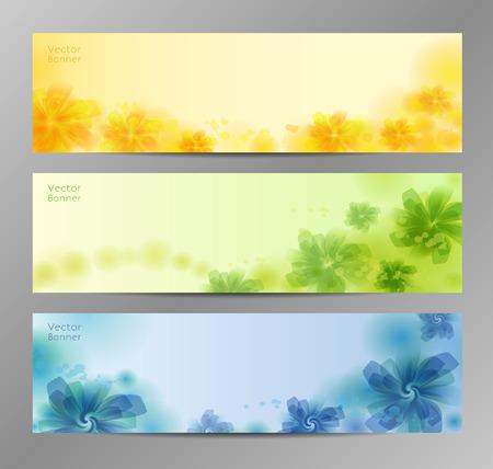 flower banner: Abstract Flower Vector Background  Brochure Template  Banner. eps 10