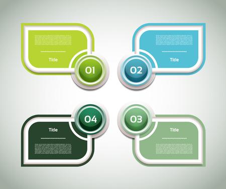 3 4: Vector Progress Product Choice or Version   Illustration