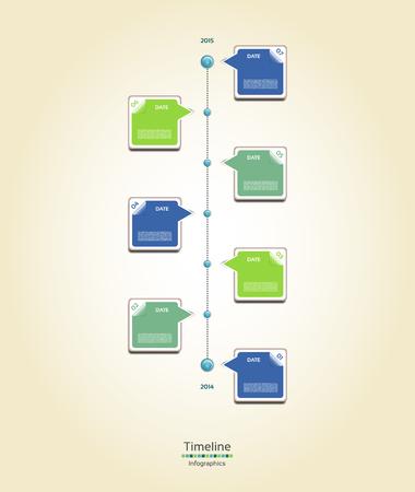 seven years: Modern timeline design template