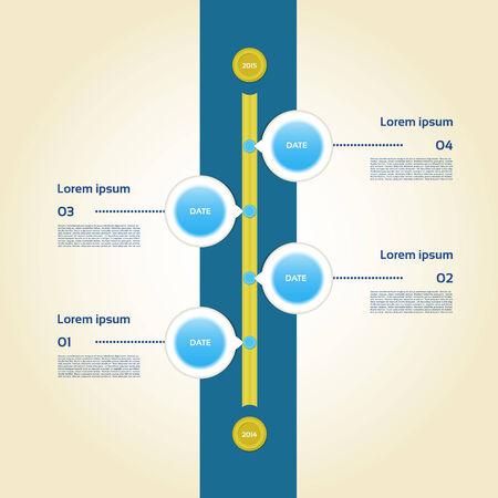 vertical bars: Modern timeline design template
