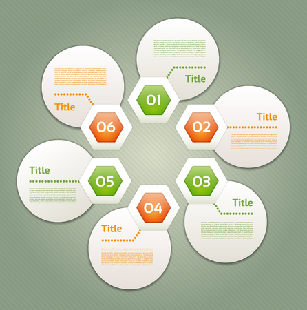 circular flow: Vector Progress Background. Product Choice or Version.