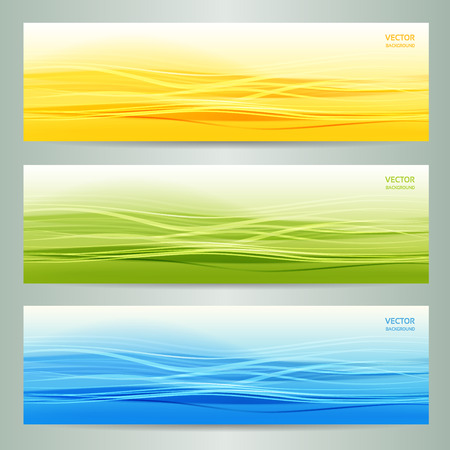 hi tech background: set of three abstract banners