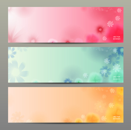 Abstract Flower Vector Background   Brochure Template   Banner    Vector