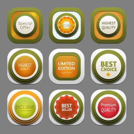 Set of modern design labels   Vector
