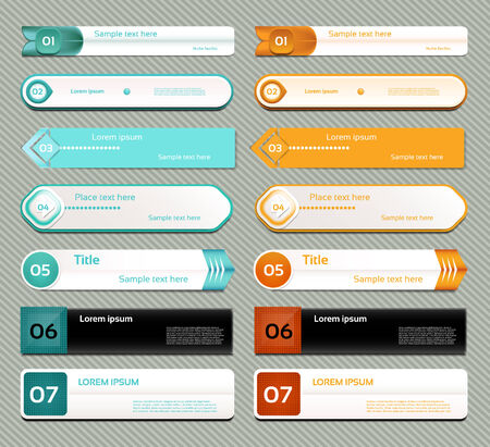 feedback sticker: Modern infographics options banner  Vector illustration  can be used for workflow layout, diagram, number options, web design, prints