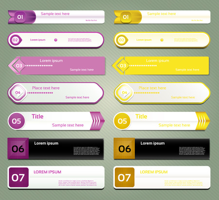 version: Modern infographics options banner  Vector illustration  can be used for workflow layout, diagram, number options, web design, prints