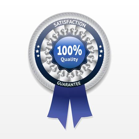 satisfaction guarantee: Satisfaction guarantee vector label    Illustration