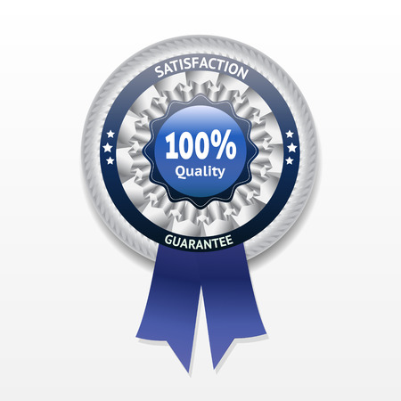 zufriedenheitsgarantie: Zufriedenheitsgarantie Vektor-Label
