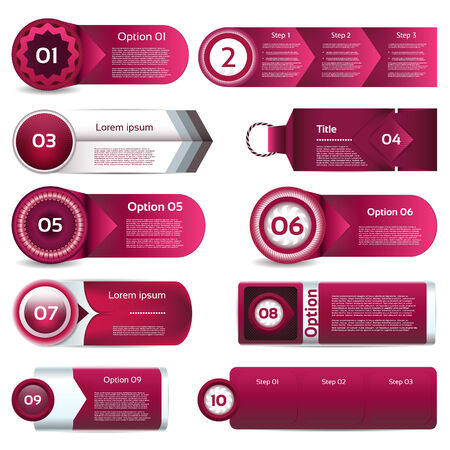 Modern infographics options banner  Vector illustration  can be used for workflow layout, diagram, number options, web design, prints