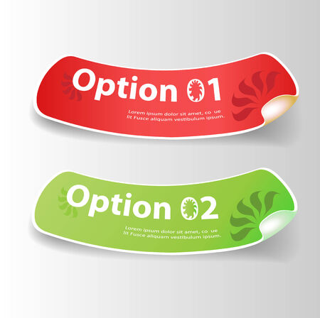 green coupon: Set of colorful Vector