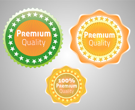 first rate: Premium quality labels Illustration