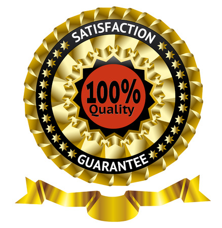 Satisfaction guarantee vector label with ribbon   Vector