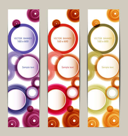 Vector Vertical Banner  Vector