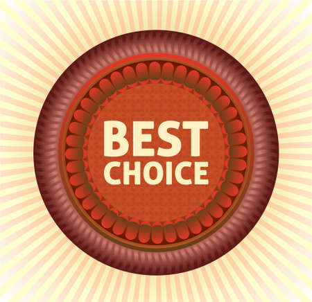 Best choice label. Vector.  Vector