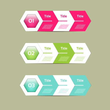 2 3: Vector Paper Progress Background. Illustration