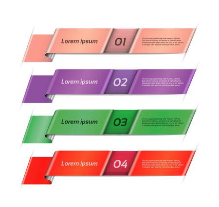 purple ribbon: Vector Progress Background   Product Choice or Version   Illustration