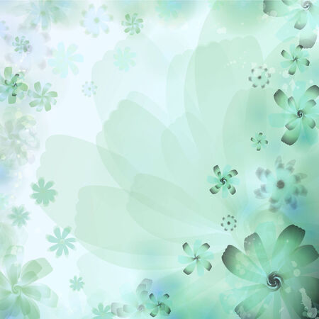 Floral Abstract Background. Vector