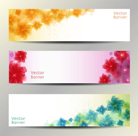 Abstract Flower Vector Background   Brochure Template   Banner  eps 10 Vector