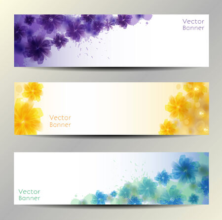Abstract Flower Vector Background   Brochure Template   Banner       Vector
