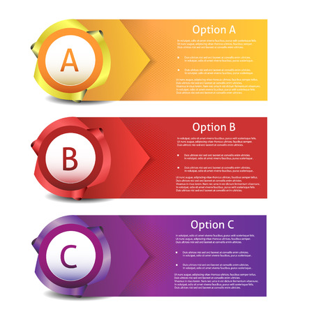 feedback sticker: Vector Progress background  product choice or version  Illustration