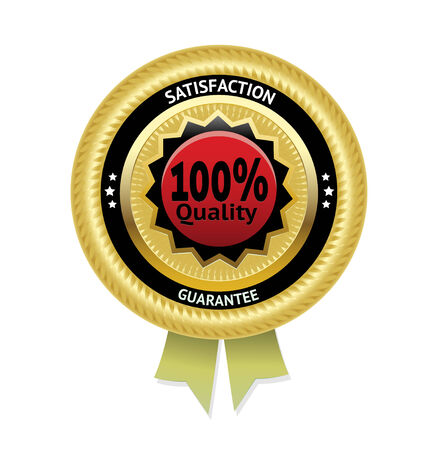 awards ceremony: Satisfaction guarantee vector label.    Illustration