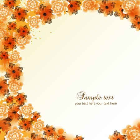 pamphlet: Floral abstract background
