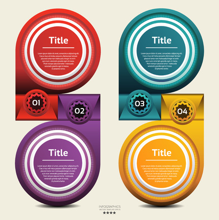 Modern Design template   can be used for infographics    numbered banners or website layout vector Vector