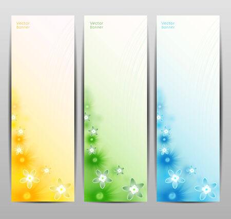 Abstract Flower Vector Background  Brochure Template  Banner.   Vector