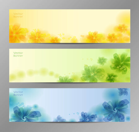 Abstract Flower Vector Background  Brochure Template  Banner.    Vector
