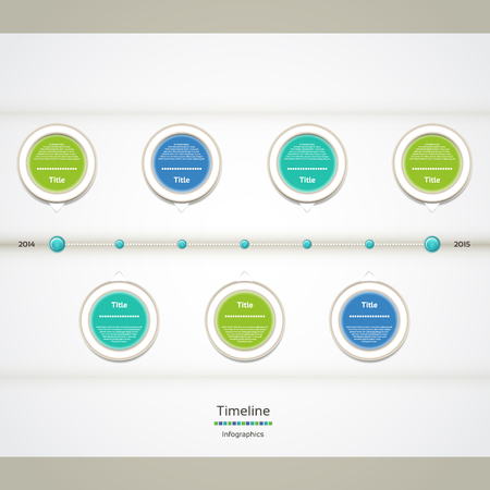 Modern timeline design template Vector
