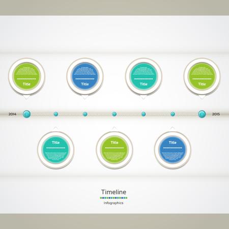 end of the line: Modern timeline design template