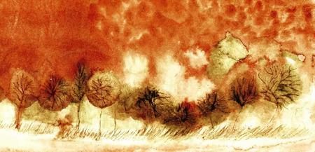 original watercolor painting  vector version  eps 10 Vector