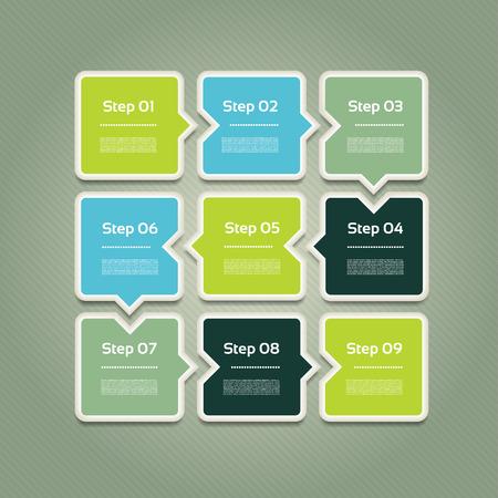 web menu: Vector Progress background  product choice or version