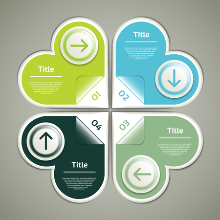 circular flow: Vector Progress Background
