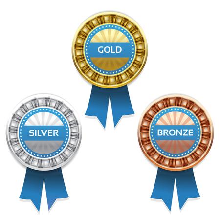 1 place: Premios de oro, plata y bronce  Vectores