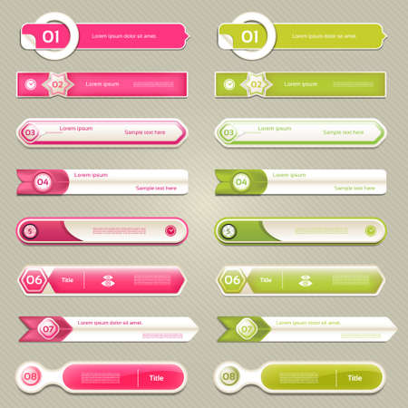 feedback sticker: Modern infographics options banner. Vector illustration. can be used for workflow layout, diagram, number options, web design, prints. Illustration