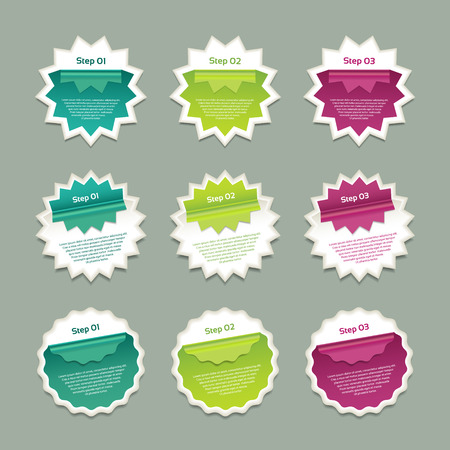 Vector Progress Background  Product Choice or Version. eps 10