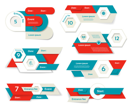 numbered: Modern infographics options banner. Vector illustration. can be used for workflow layout, diagram, number options, web design, prints. Illustration