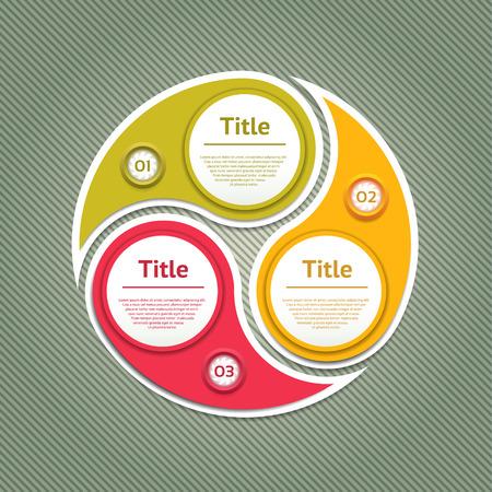 cyclic: Cyclic diagram with three steps Illustration