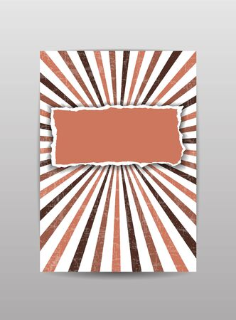 torn paper background: Torn paper cover, brochure, flyer, background in brown color. Vector illustration.