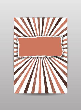 torn paper: Torn paper cover, brochure, flyer, background in brown color. Vector illustration.