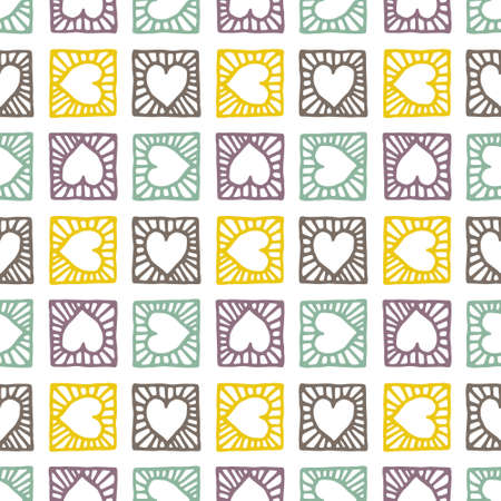 pattern background: Heart pattern, vector seamless background. Illustration