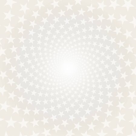 twisted: Twisted stars spiral. White & grey abstract background.